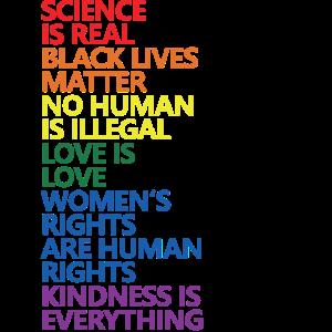 Science Is Real Black Lives Matter LGBT Pride BLM