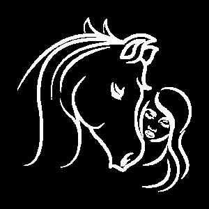 Pferdekopf Pferd Reiterin