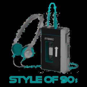 90er 90s Vintage Walkman Style