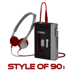 90er 90s Vintage Walkman Style rot red