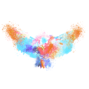 Eule, Aquarell, mint, art, pastell