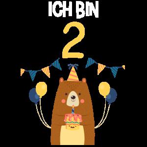 2. Geburtstag Geburtstagsshirt Bär Zweiter Geb