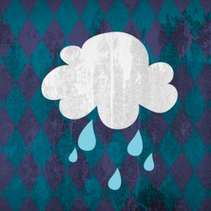 Wolke Regen Rauten Kinderzimmer Poster Wetter