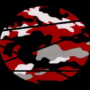 Camouflage Motiv Kreis mit Querstreifen