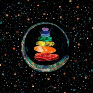 Chakren Zen Steine und Enso Kreis