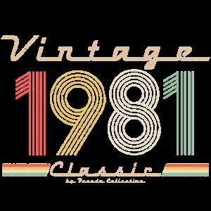 Vintage Classic 1981 Pseudo Retro Geburtsjahr