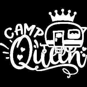 CAMP QUEEN Wohnwagen Camper Camping Geschenkidee