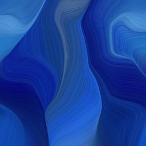 kräftiges blaues muster mit wellen abstrakte kunst