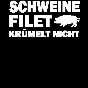Schweine Filet krümelt nicht   Papa Grillprofi