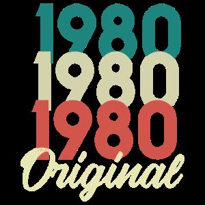 1980 Geboren Geburt Geburtstag Birthday Geschenk