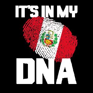 Es ist in meiner DNA Peruanische Geschenke Hispanic Bandera de