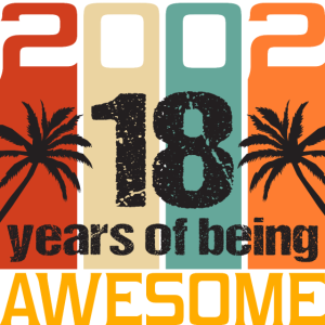 2002 Awesome 18 Jahre Geburtstag Vintage Shirt