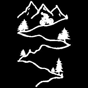 MTB Mountainbiker Mountain Bike Downhill Fahrer