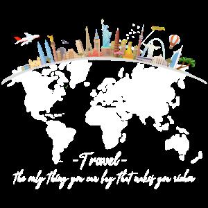 Travel Reisen Fernweh Globetrotter Geschenk