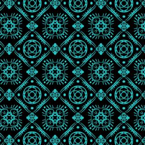 Muster Mandala schwarz tuerkis