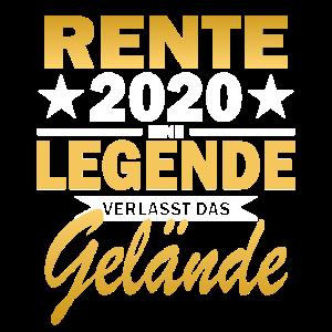 Rente Jahr 2020 Legende Gelaende Rentner Geschenk
