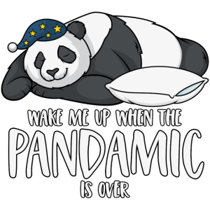 Panda Spruch Wake me up when the pandamic is over