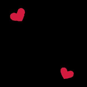 Herz Rahmen Ornament Linie Dekoration anpassbar