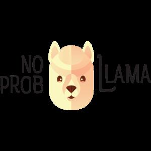 No Prob Llama - Lama Alpaka Pun Spruch