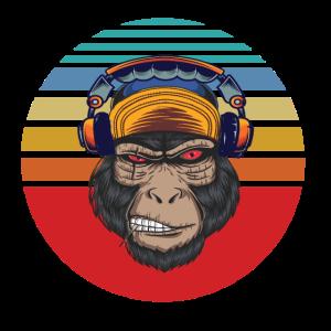 gorilla kopfhoerer sunset retroGorilla Kopfhörer S