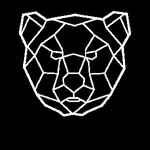 Geometrie Bär Berlin Bären Kopf Design geometrisch