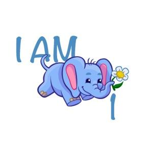 I am 1 - elephant blue