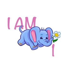 I am 1 - elephant pink