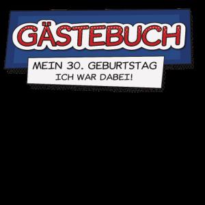 30. Geburtstag Gästebuch Comic