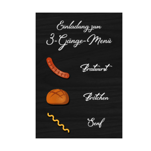 3 Gänge menu BBQ Grillen grillmeister