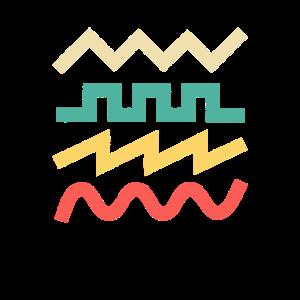 Synthesizer-Wellenform für elektronische Musiker