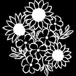 Blumen Vektor weiß