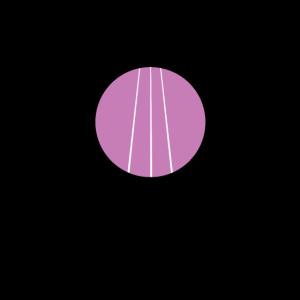 Artdeco Design - Abstrakt und Geometrisch Lila