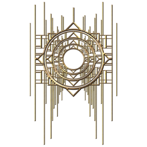 Abstrakt & Geometric - Gold Metal