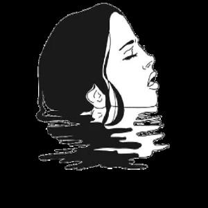 Frau in einem See