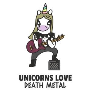 Mascarilla Unicornio Metal Rock | Humor Unicornios