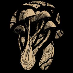 Pilz und Geometrie (beige gefüllt)
