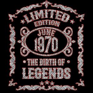Geboren in Juni 1970 - 50. Geburtstag Geschenk