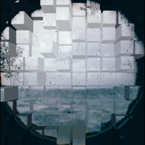 Window View Cube Design Sea