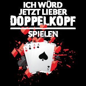 Doppelkopf Kartenspiel Karten Watten Spruch Lustig