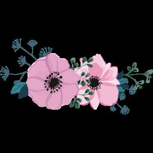 Blume No. 3 - Rosa Blüten