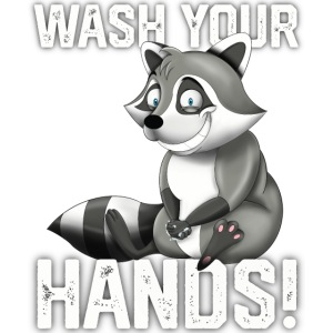Wash Your Hands | Raccoon Lover | Wash Hand