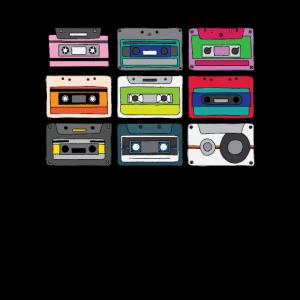 Kassette Mixtape Retro Musik Vintage 80er 90er Jahre