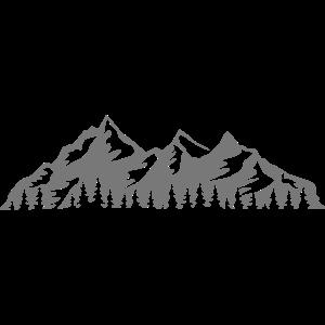 Bergkette mit Wald