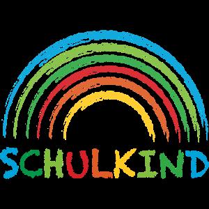 Schulkind Regenbogen Geschenk Einschulung