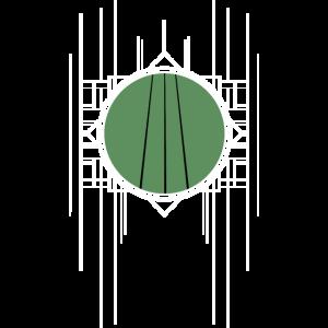 Mad Lines - retro & abstrakt weiß & grün