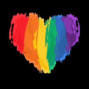 LGBTQ Aquarell Liebesherz