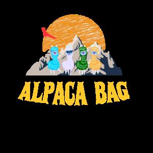 Alpaka Ferien Reise Berge