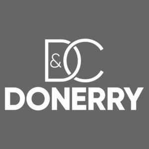 DONERRY New White Logo on Dark