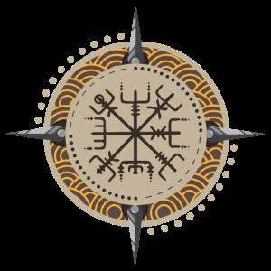 Symbol Vegvisir Vegvísir Wikinger Geschenkidee