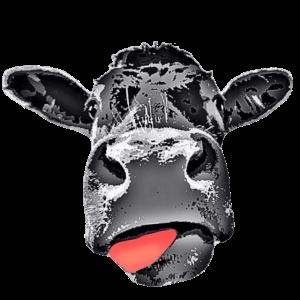 Kuh mit Zunge